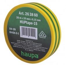 263860 Изолента ПВХ 19мм х 20м желто-зеленая HAUPA