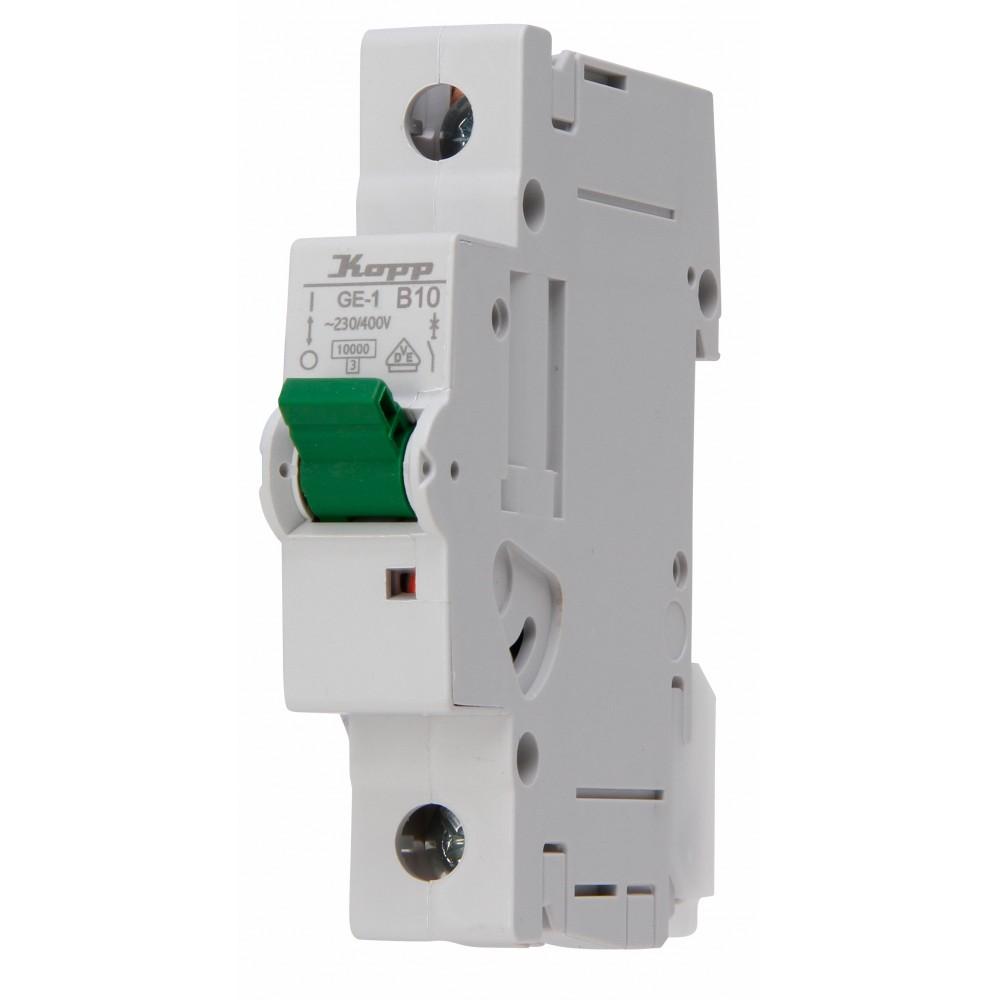 7210.0008.2 Автоматический выключатель MCB B 10A 1P