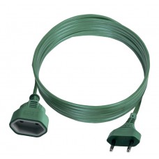 PS-11/5 Удлинитель Euro 2*0.75 5m зеленый