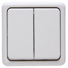 5135.0200.2 Выключатель PT белый двухклавишный