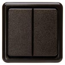 5135.0600.6 Выключатель двухместный PT, коричневый