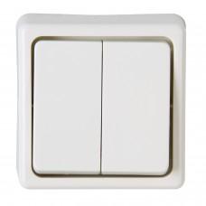 5175.1304.2 PT выключатель двойной белый BASIC