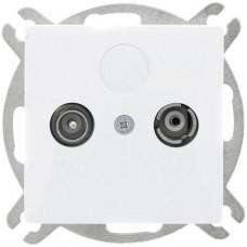 GAP-OP/K Розетка TV+R концевая белый OPAL