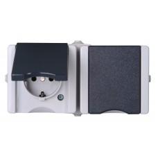 9506.5600.1 PROAQUA розетка двухместная горизонтальная IP44