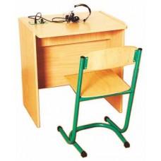 Стол ученический для лингафонного кабинета одноместный