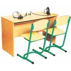 Стол ученический для лингафонного кабинета двухместный